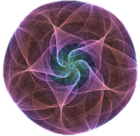 Fractal Violet Flower as Mandala