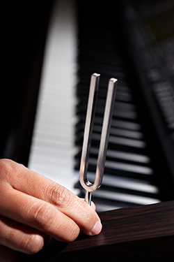 Piano Tuningfork Black and White
